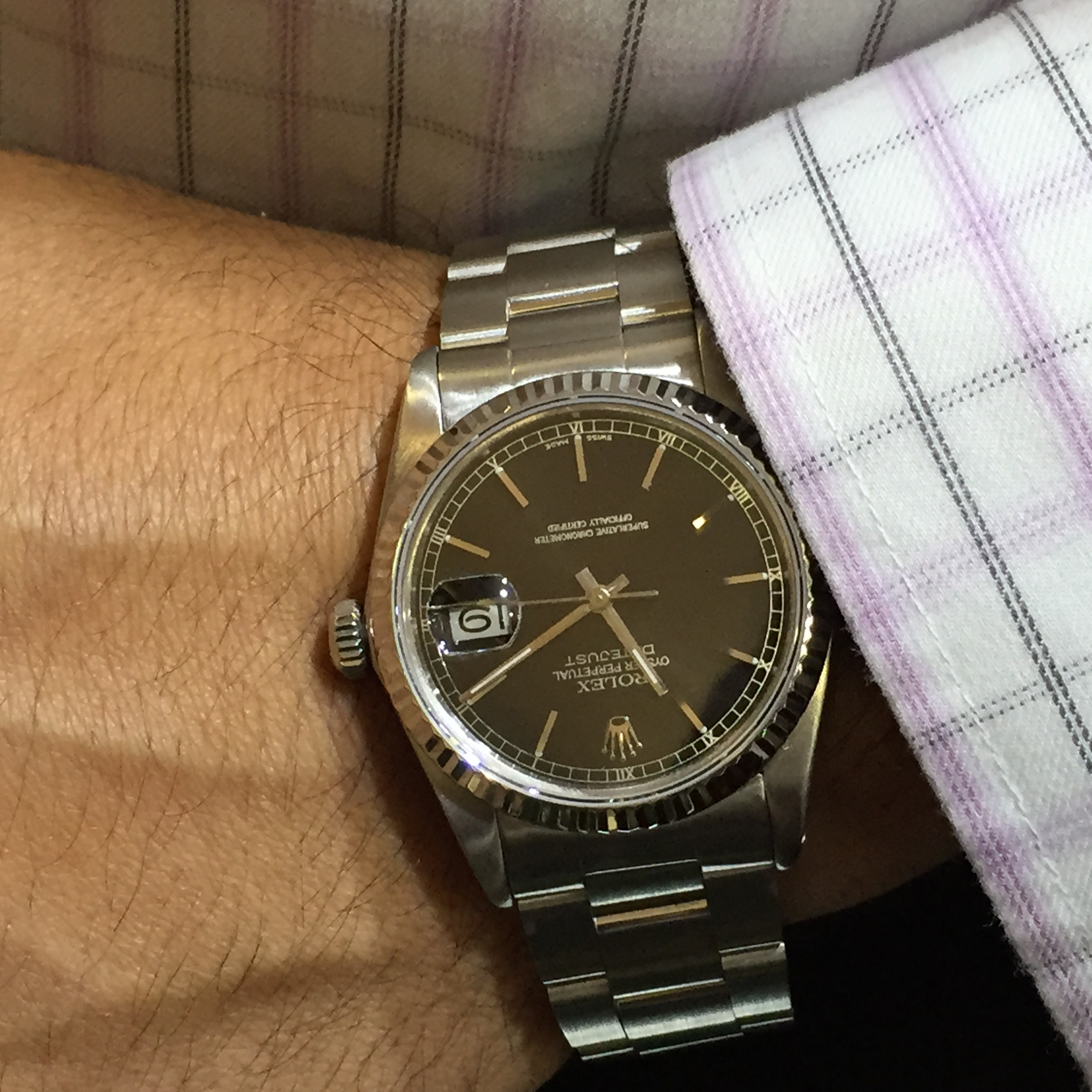 Rolex datejust stainless steel mens watch 36mm oyster bracelet ebay for Rolex date just 36