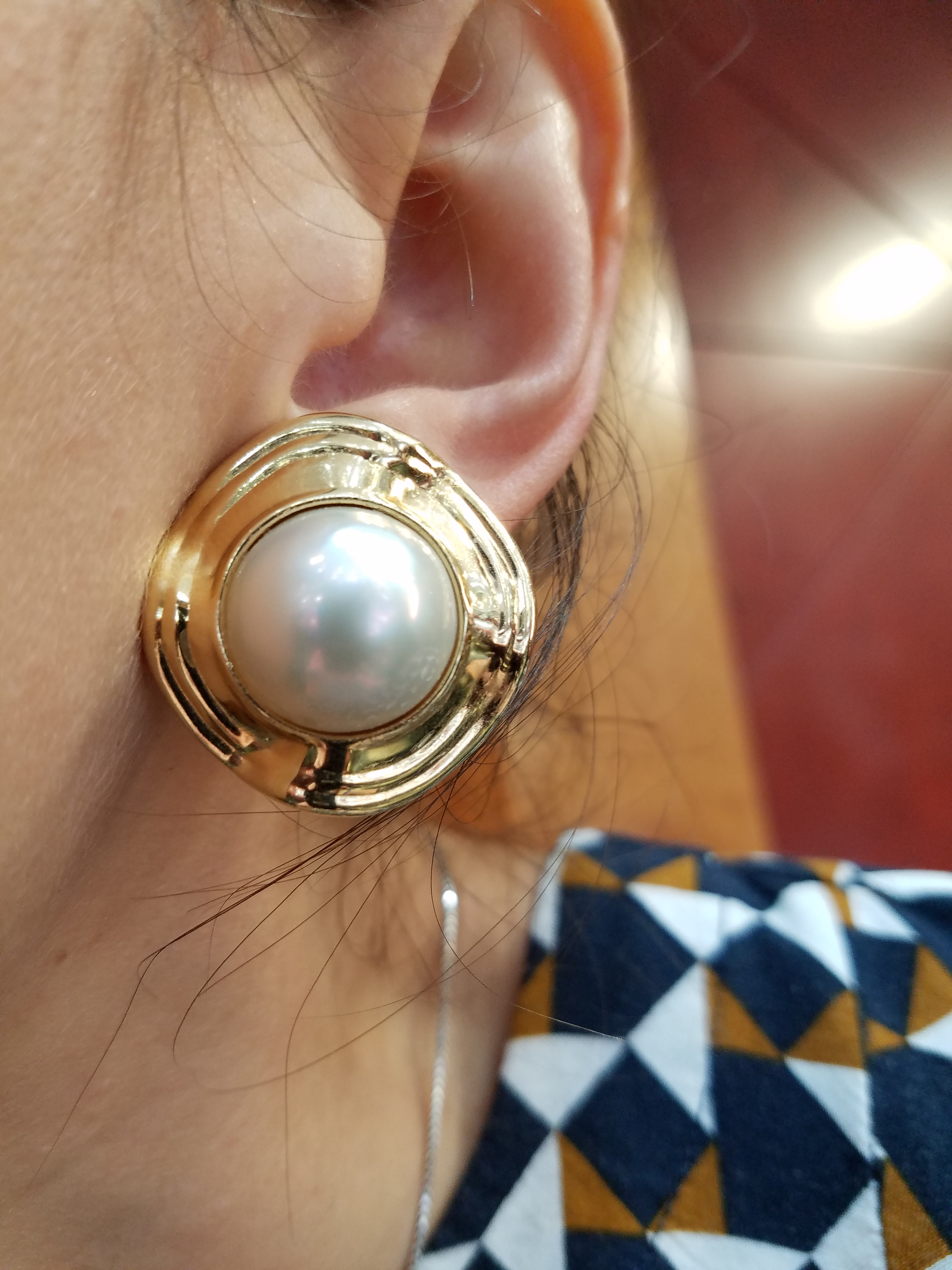 14KYellow Gold12.9g PEARLEarrings