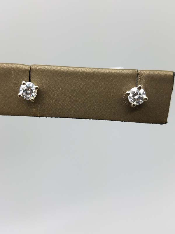 14K	White Gold	1	g	solitaire earring	H	I2	4 prong	round brilliant	Diamond		Stud	Earrings	0.35	ct
