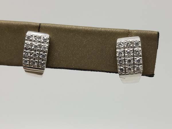 14k White Gold 3.8gr Huggie Diamond Earrings 0.60ct