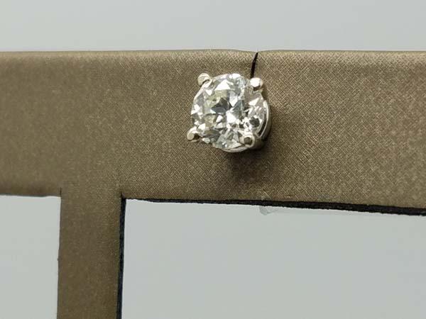 14KWhite Gold1gSolitaire EarringsJVVS4-pronground brilliantDiamondStudEarrings1.73ct