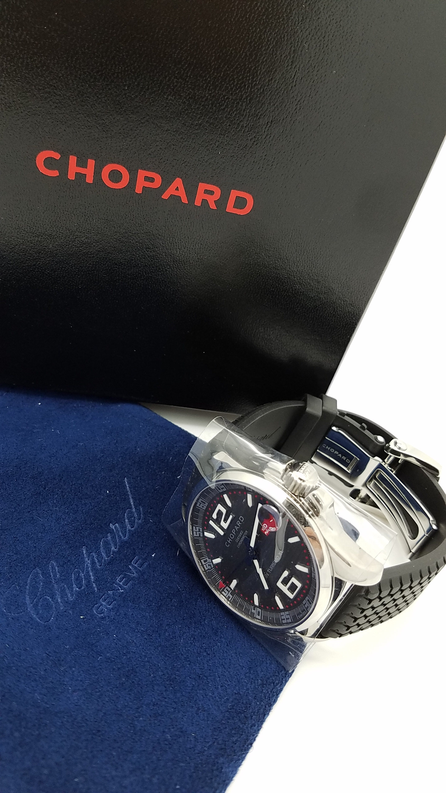 CHOPARD	Chopard Mille Miglia GT XL Light Weight Special Ed 	ref#168997 - 3005)	Stainless Steel	Silicone/Rubber		SILVER / GREY DIAL	Mechanical (Automatic) WATCH