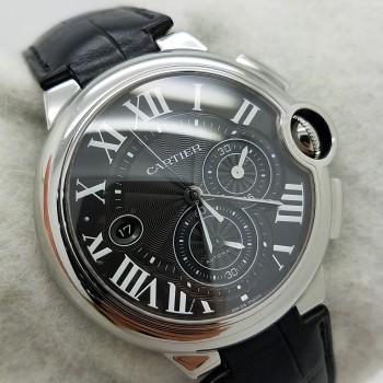 CARTIERBALLON BLEU chronograph3109 - W6920052BLACK romanStainless SteelGenuine Leather44mmMechanical (Automatic)Watch