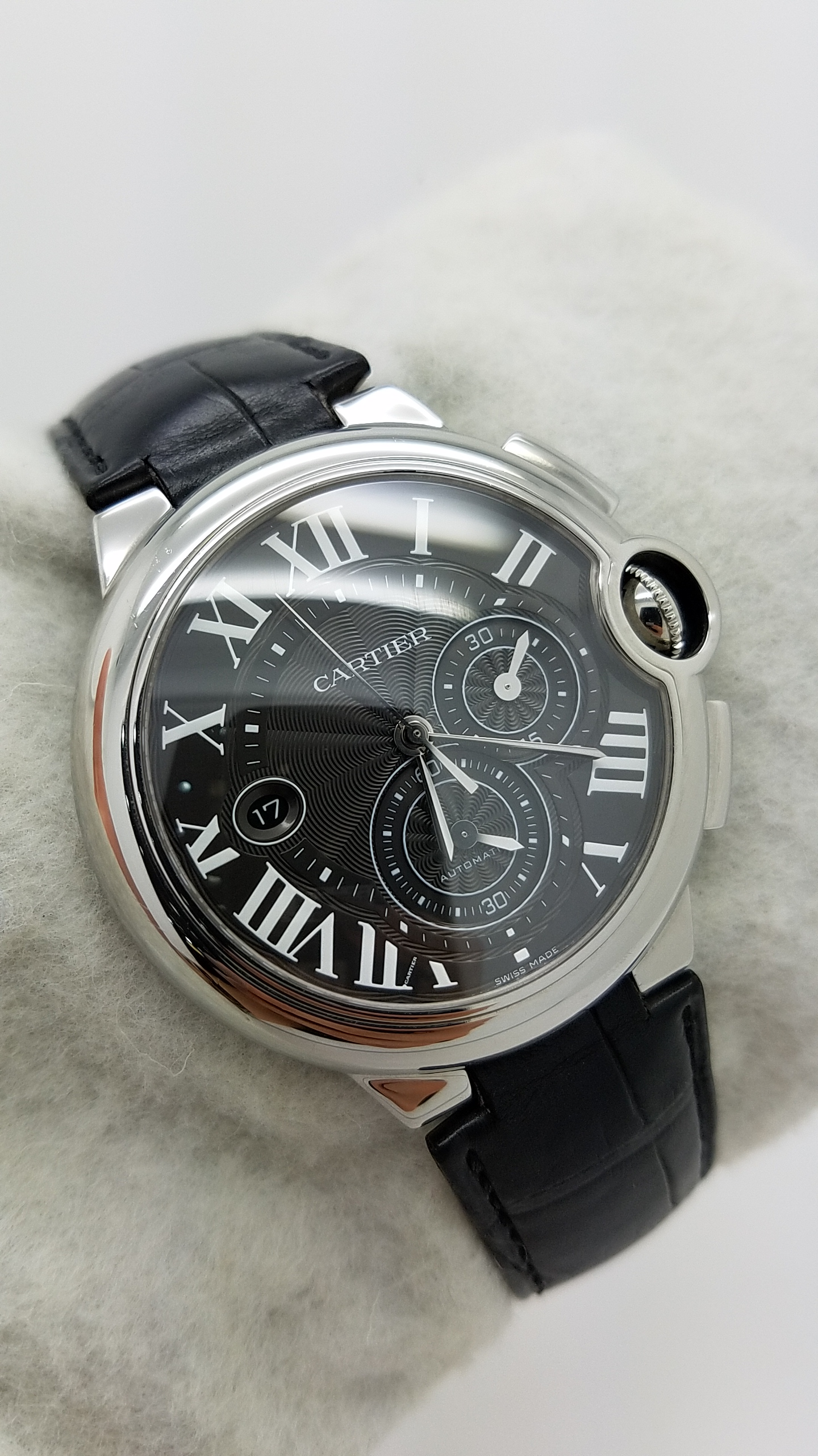 CARTIER	BALLON BLEU chronograph	3109 - W6920052	BLACK roman	Stainless Steel	Genuine Leather	44mm			Mechanical (Automatic)	Watch