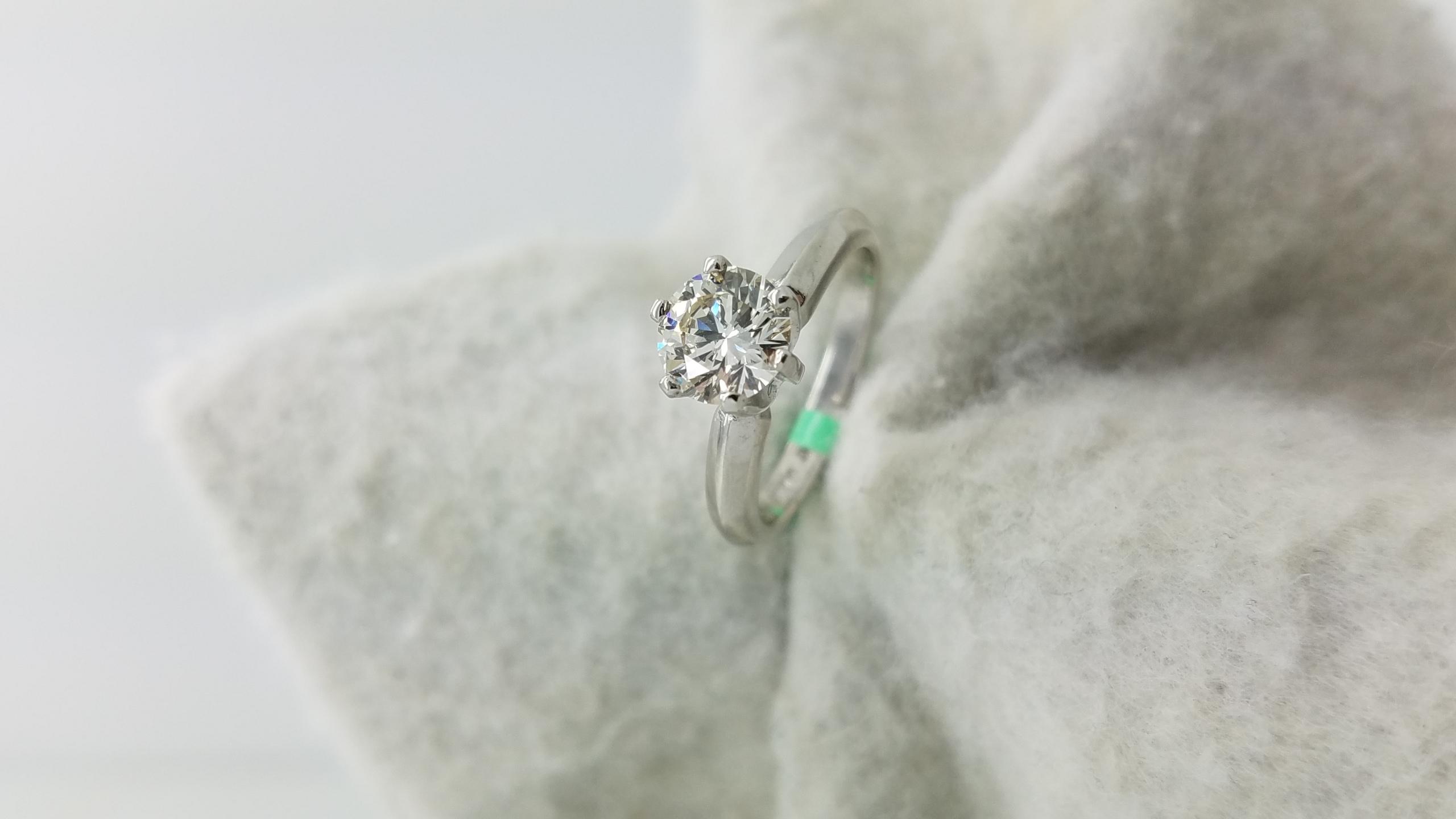 PLWhiteClassic Tiffany Style1.03ct.RoundCutDiamondLVVS16-prongSolitaireEngagement-Ring