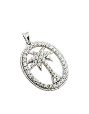 MODERN 0.75        ct        DIAMOND                14K        White Gold        4.9        G        PALM TREE                necklace-pendant