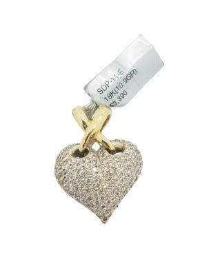 Modern        2.00        ct        White        DIAMOND                18K        Yellow Gold        10.9        G        HEART PENDANT