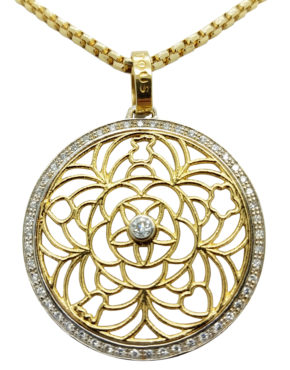 FILIGREE FLORAL COLLECTION BY TOUS	0.50	ct DIAMOND 18K	Multi-Tone Gold	6.9	GR pendant