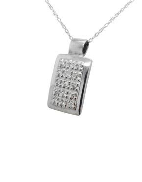 SQUARE         0.25        ct                DIAMOND                14K        White Gold        1.8        GR  pendant