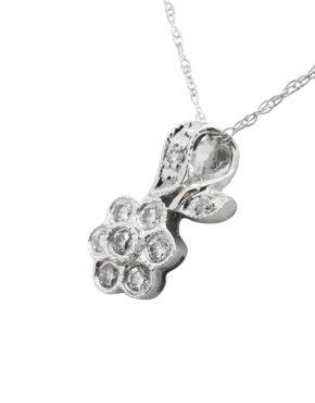 TINY      0.20        ct                DIAMOND                14K        White Gold        0.9        G        FLOWER pendant