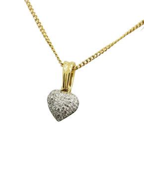 PAVE VALENTINES        0.50        ct                DIAMOND                18K        Yellow Gold        2.2        G        HEART PENDANT