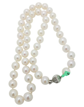 14K	White Gold		Classic strand	-	ct		Pearl			necklace-pendant