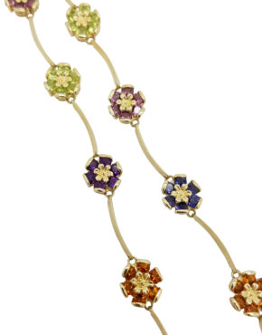 14K	Yellow Gold		FLOWER		ct		MIX GEMSTONE			necklace-pendant