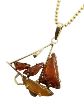VINTAGE AMBER1.9GSHIP necklace-pendant