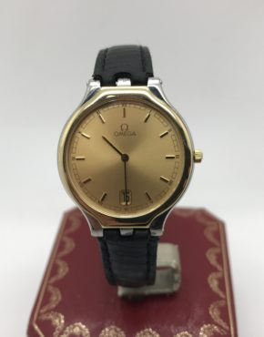 OMEGA	VINTAGE 		Gold					18k & Stainless Steel	Genuine Leather		Quartz (Battery)	WATCH