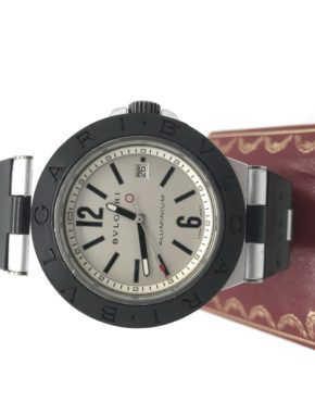 BVLGARI	ALUMINUM	AL 44 TA	SILVER / GREY					Aluminum	Silicone/Rubber	44MM	Mechanical (Automatic)	WATCH