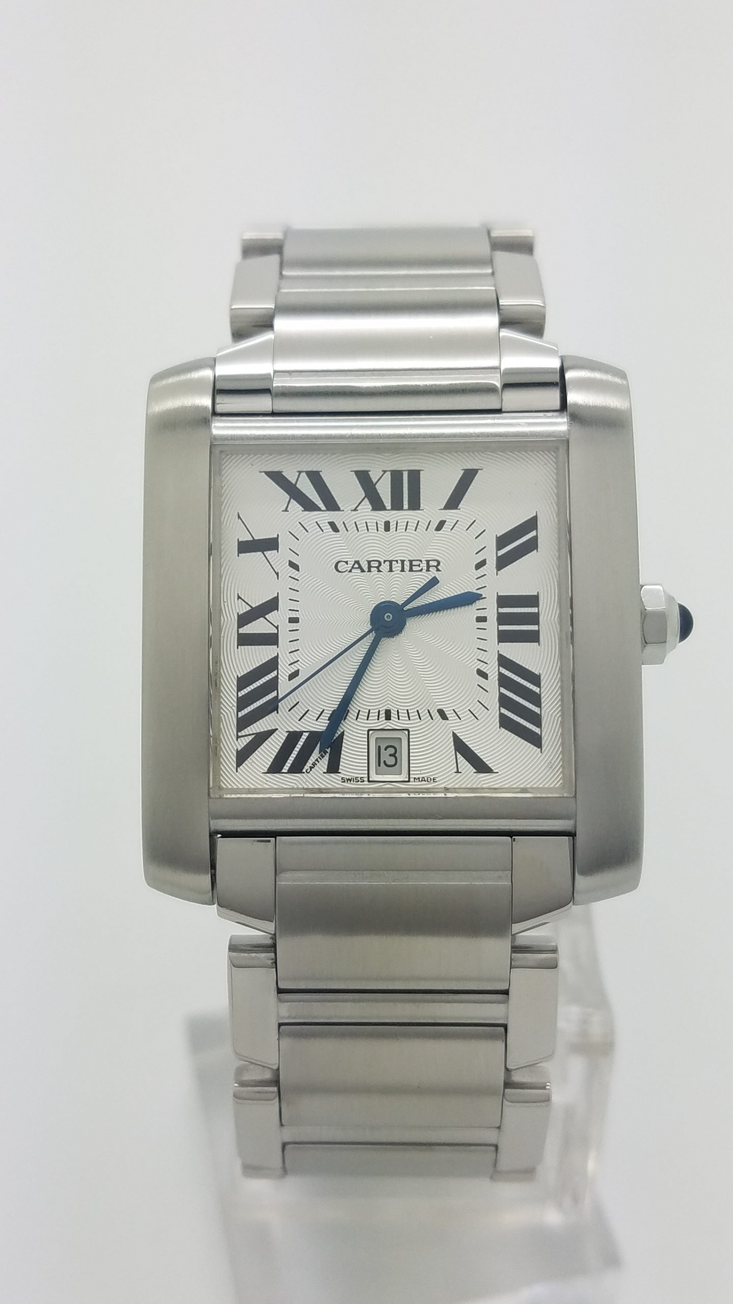 22ab6ee81cf Cartier Tank Francaise 2302 Stainless Steel Large Automatic 28mm ...