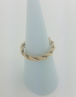 ba027855c VINTAGE TIFFANY & CO. SUCCO TWIST NARROW RING 18K YELLOW GOLD SIZE 4.25 ·  Jewelry ...