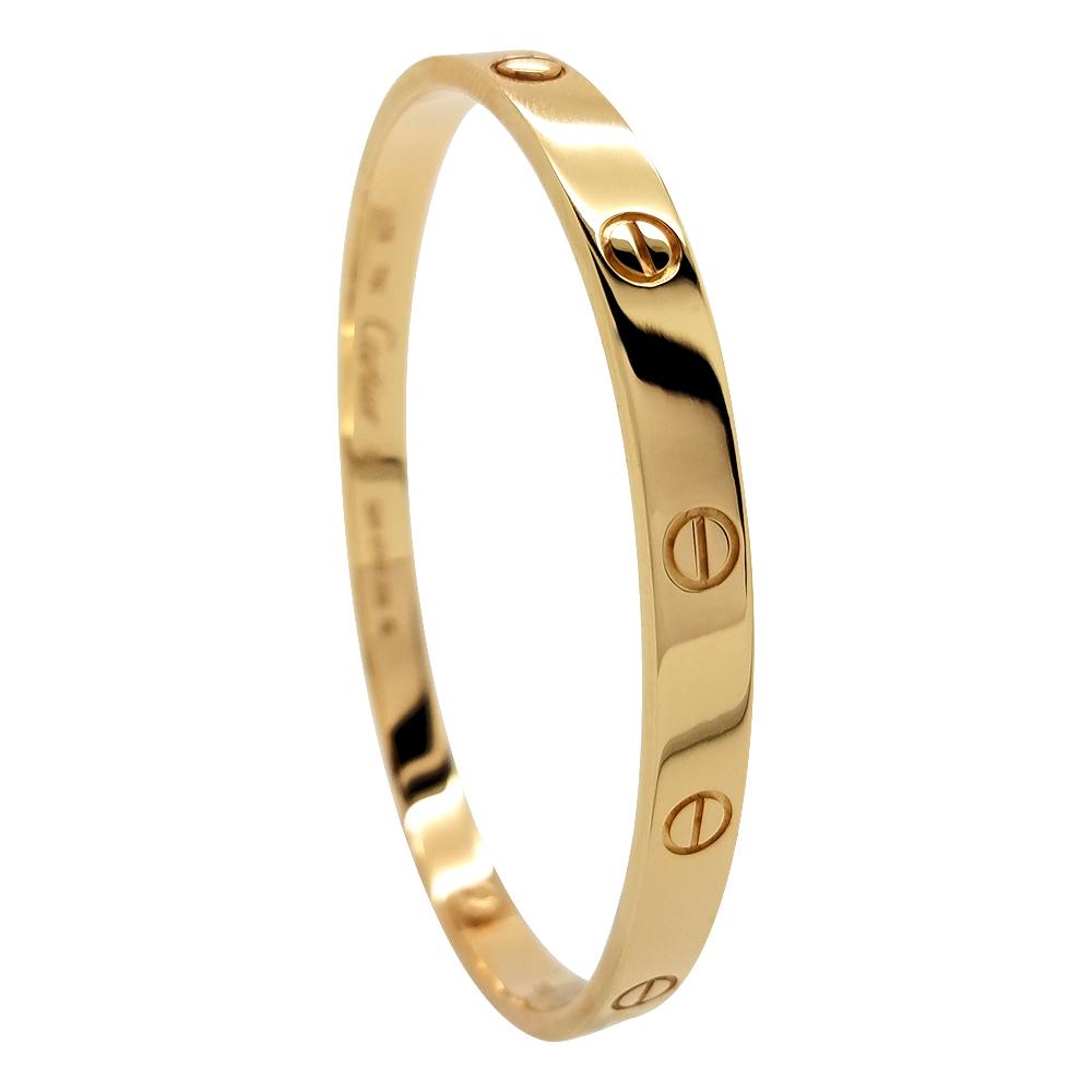 f6e9491201cf Cartier Love 18K Rose Gold Bracelet Size 19